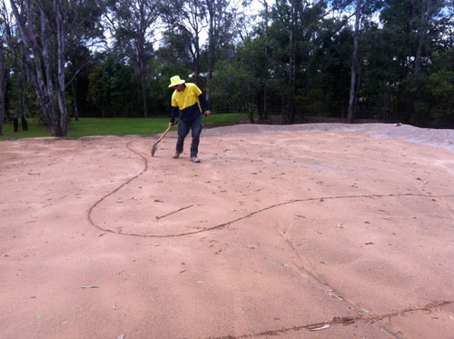 Marking out the green - again